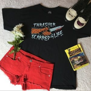 🔪 ❤️THRASHER SCARRED 4 LIFE GRAPHIC TEE❤️🔪